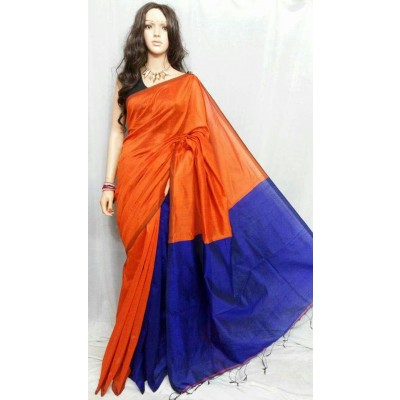 Hand loom Cotton Plain Saree