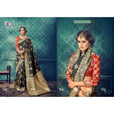 YNF Brand Jacquard cotton sarees