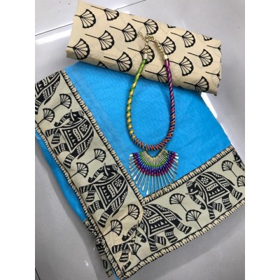 Kalamkari cotton saree by Vins4u.com