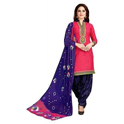 Unstitched Patiyala Suit