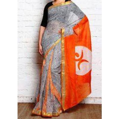 Kerala Cotton Hand Block Print Saree