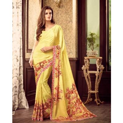 Multi color printed saree