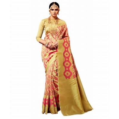 Printed Multicolor Silk saree