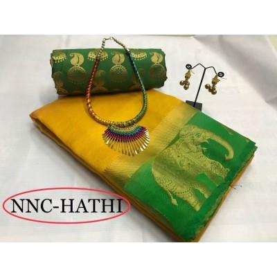 Tussar zarna silk synthetic sarees