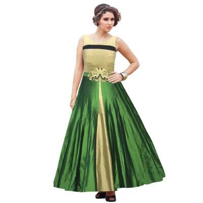 Sundram Fab Presents Charming Green Embroidery Designer Salawar Suit