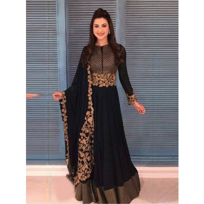 Sundram Fab New Arrival Black Colour Designer Anarkali Suit