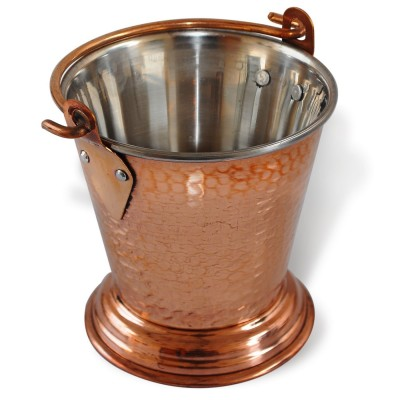 Copperware Traditional Bucket for Serving Vegetable Dish Best Quality Tableware