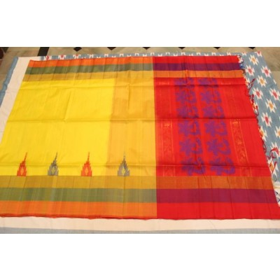 Ikkat Pure Silk Handloom Light Weight Sarees