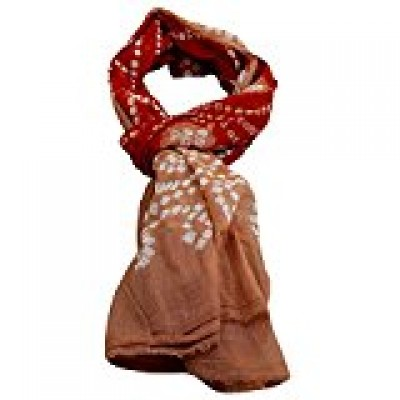 RoyaltyRoute Womens Tie Dye Wrap Cotton Scarves One Size Dark Brown