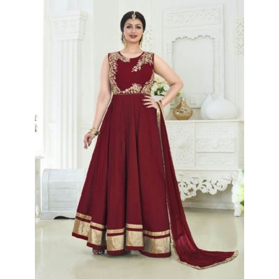 Sundram Fab New Arrival Marron Colour Designer Anarkali Suit