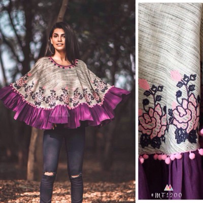 Khadi Ponchos for summer and winter by Vins4u.com