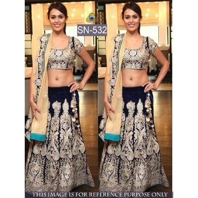 Semi Stitched Bollywood Designer Lehenga