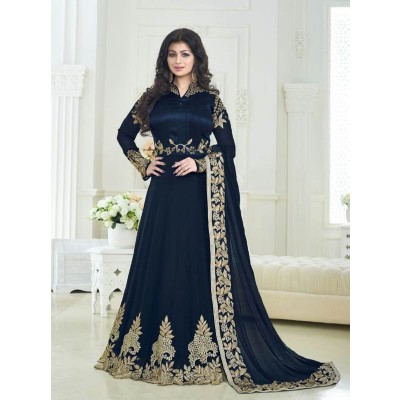 Sundram Fab New Arrival Nevy Blue Colour Designer Anarkali Suit