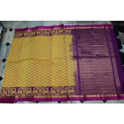 Kuppadam Handloom cotton by pattu all over design saree