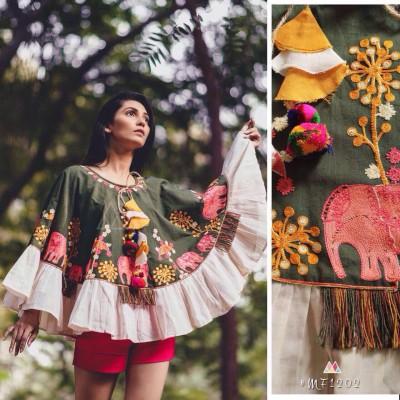 Khadi Ponchos for summer and winter by Vins4u.com