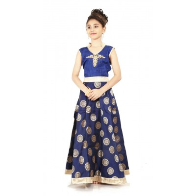 Kids Gown semi stitched