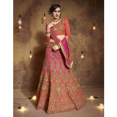 Wedding Lehenga Semi-Stitched