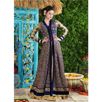 Sundram Fab Presents Charming Blue Embroidery Designer Salawar Suit