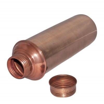 Thermos Water Bottle with Lid Pure Copper for Ayurvedic Health Benefits
