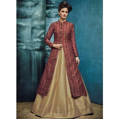 Classy Phantom fabric designer Indowestern