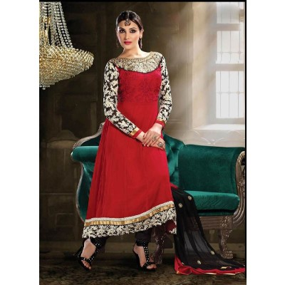 Maroon Long New Designer Party Wear Anarkali Suit