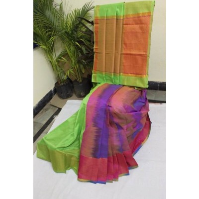 Pachampally Handloom cotton silk sarees