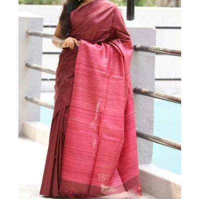 Tussar pure silk Saree