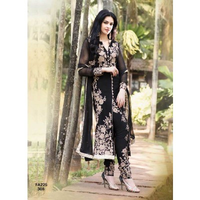 NEW DESIGNER ATTRACTIVE BLACK SALWAR SUIT