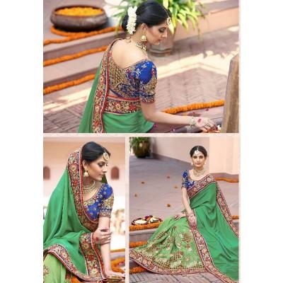 Wedding saree 6.3(5.5 Saree 0.8 blouse )