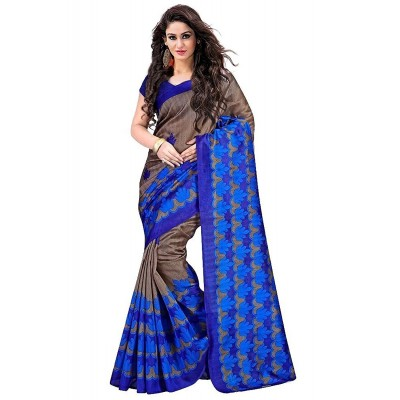 Suhaz Collection Women's Blue Cotton Saree
