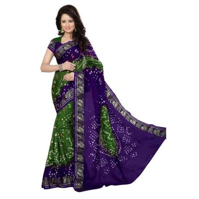 Bandhej Saree Cotton silk
