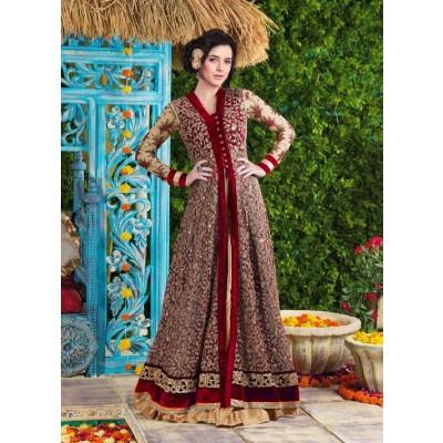 Sundram Fab Presents New Gorgeous Maroon Embroidery Designer Salwar Suit