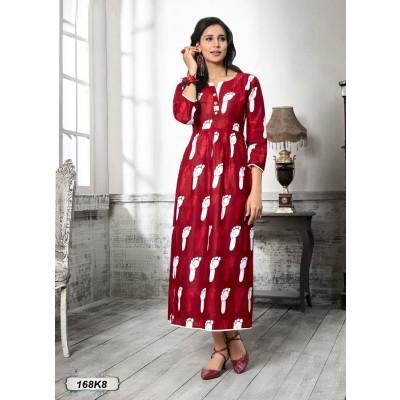 Anarkali Cotton Kurti by Vins4u.com