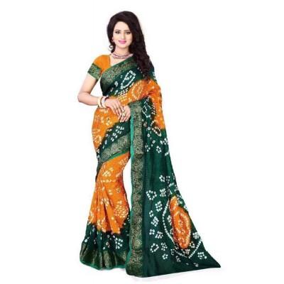 Leheriya bandhej Sarees Silk jacquard