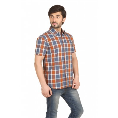 Starsy Multi Color Checkered Cotton Shirt for Men