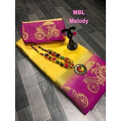 Tussar Silk renu style saree by Vins4u.com