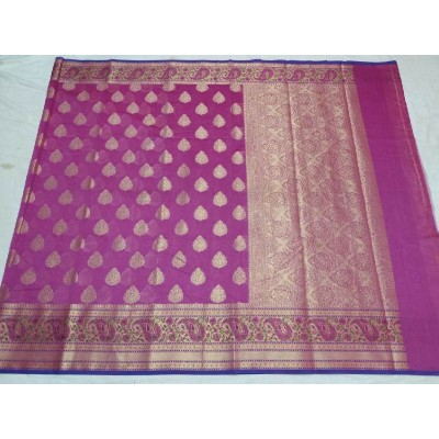 Banarasi woven Cotton Silk Handloom Saree