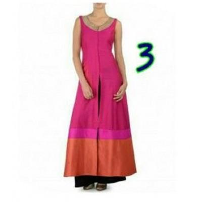 Dazzling Deals Pink Banglori Silk Palzzo(Semi Stitched)