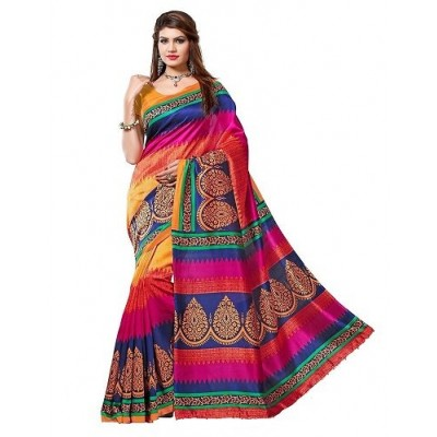 Suhaz Collection Women's Cotton Silk Saree